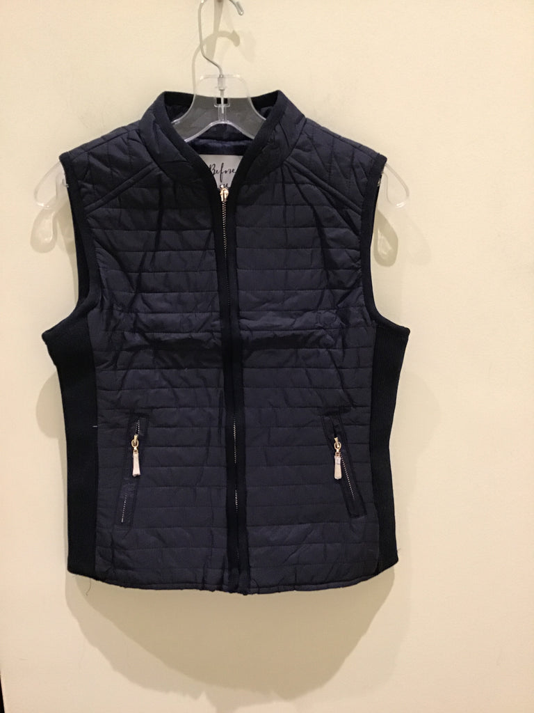 Quilted vest in Navy by Before You