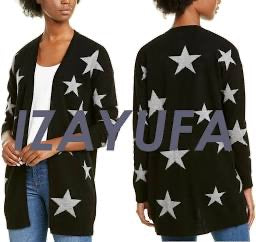 Black Cashmere Swearer with Gray Stars by Philosophy