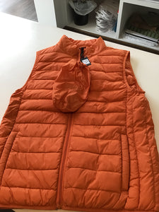 Men's Puffer Vest in Orange by Bullington Clothing