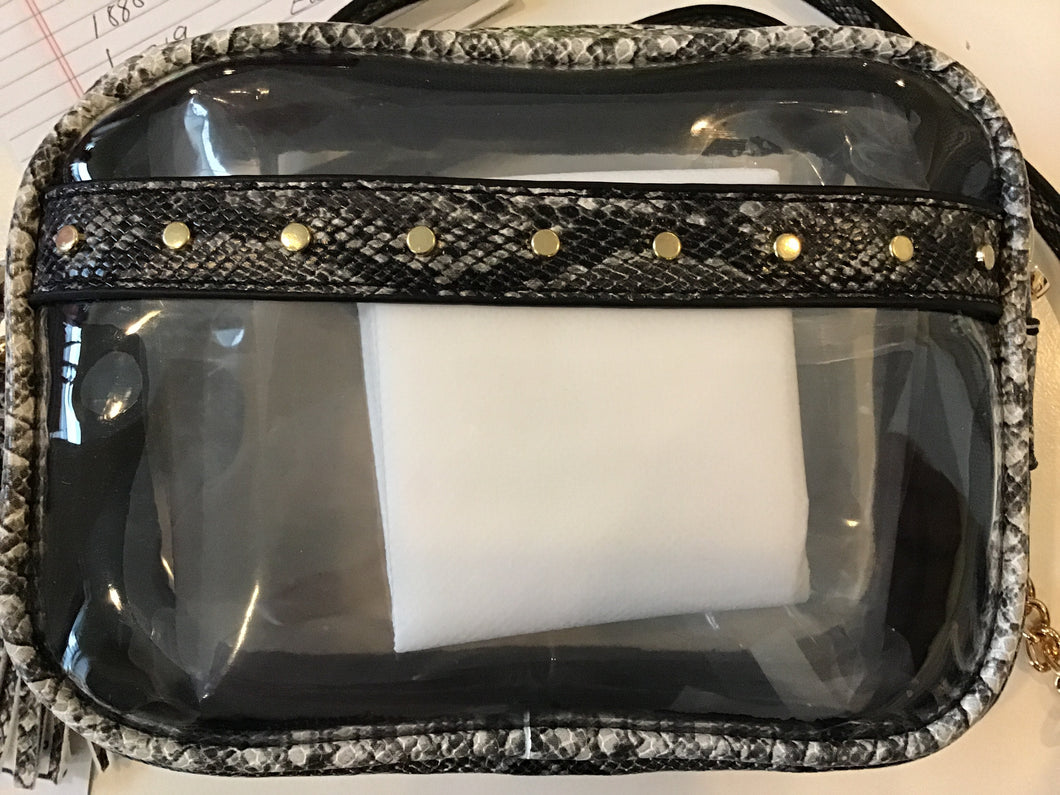 Transparent bag in Grey/Python by TOGOGO