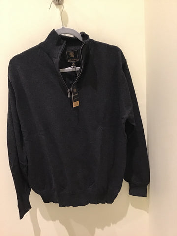 men's cotton cashmere 1/4 zip shirt in Charcoal by F/X Fusion