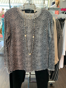 Mini Leopard dip dye Sweater by Project Clothing