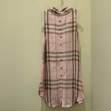 Load image into Gallery viewer, Button Back Dress in Pink Plaid by Boho Chic