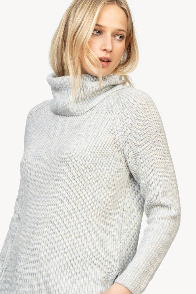 Ribbed Turtleneck Sweater in Frost by LillaP