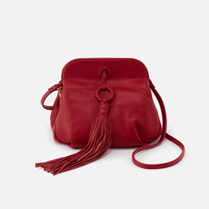 Leather Birdie Bag in Scarlet by Hobo Bags