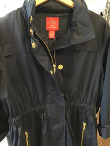 Tess Raincoat in Navy by Ciao Milano/Gold Zipper