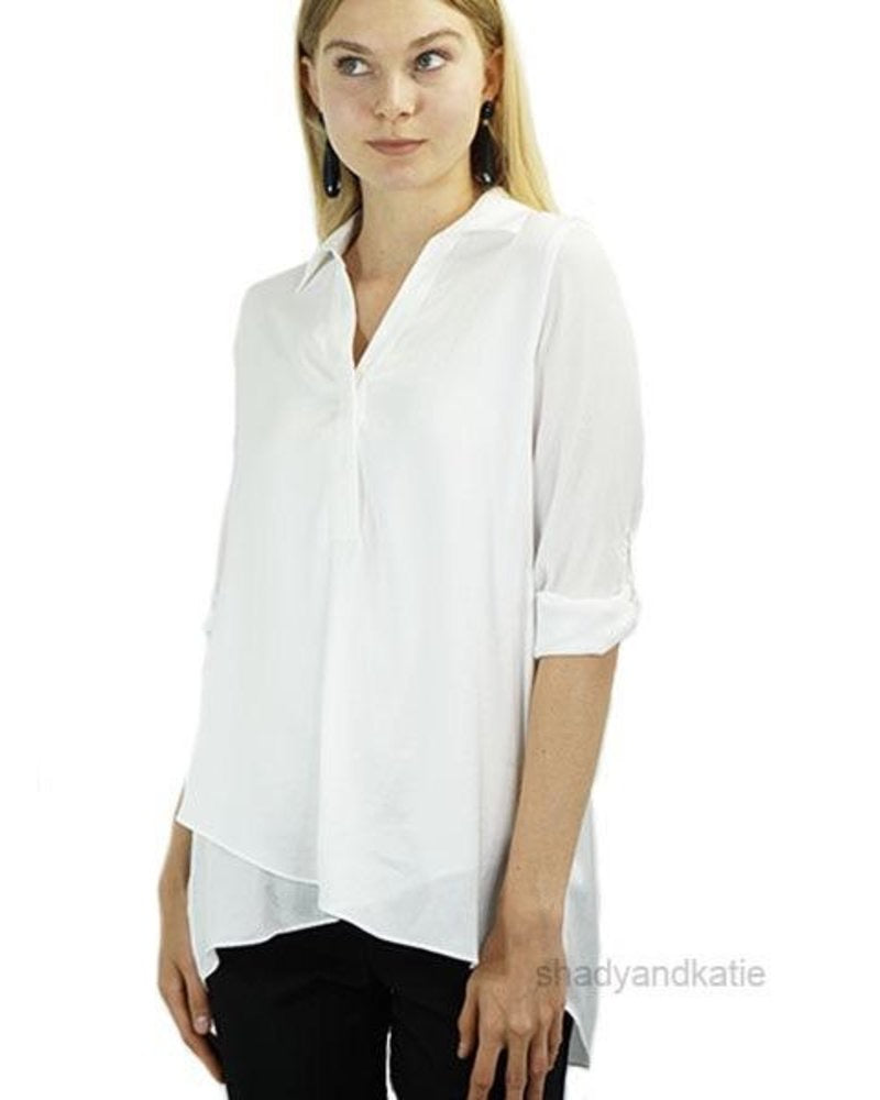 Air Flow Blouse in White by Renuar