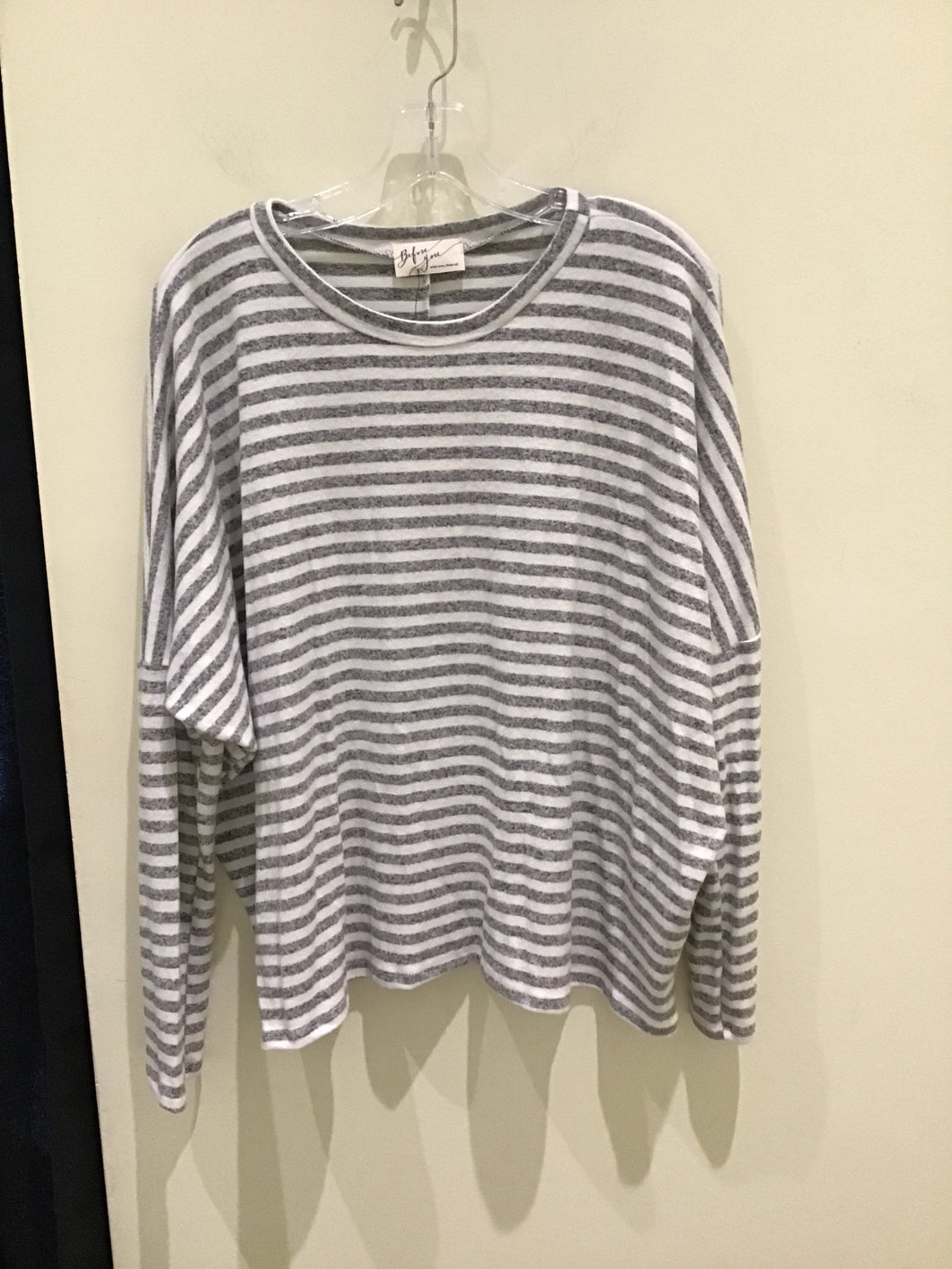 Striped Dolman Top by Before You