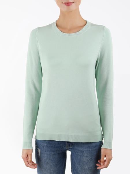 Emma Shaker Sweater in Pale Mint by 525 America