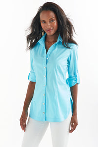 Joey Shirt in Turquoise by Finley