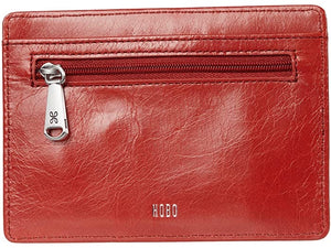 Euro Slide Leather Passport Wallet in Rio Red by Hobo Bags