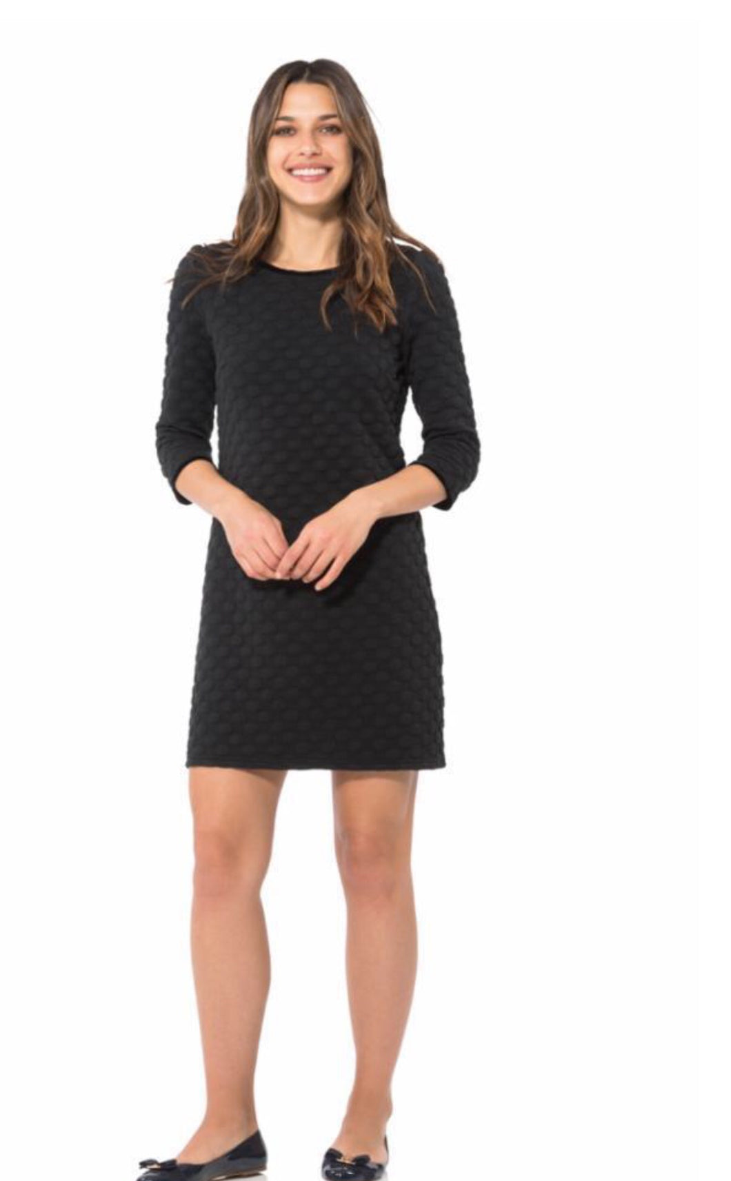 Long Sleeve Dress in Black H1879 by Sail to Sable