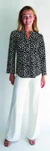 Josie Tunic Top in Black with White Dot by Jude Connally