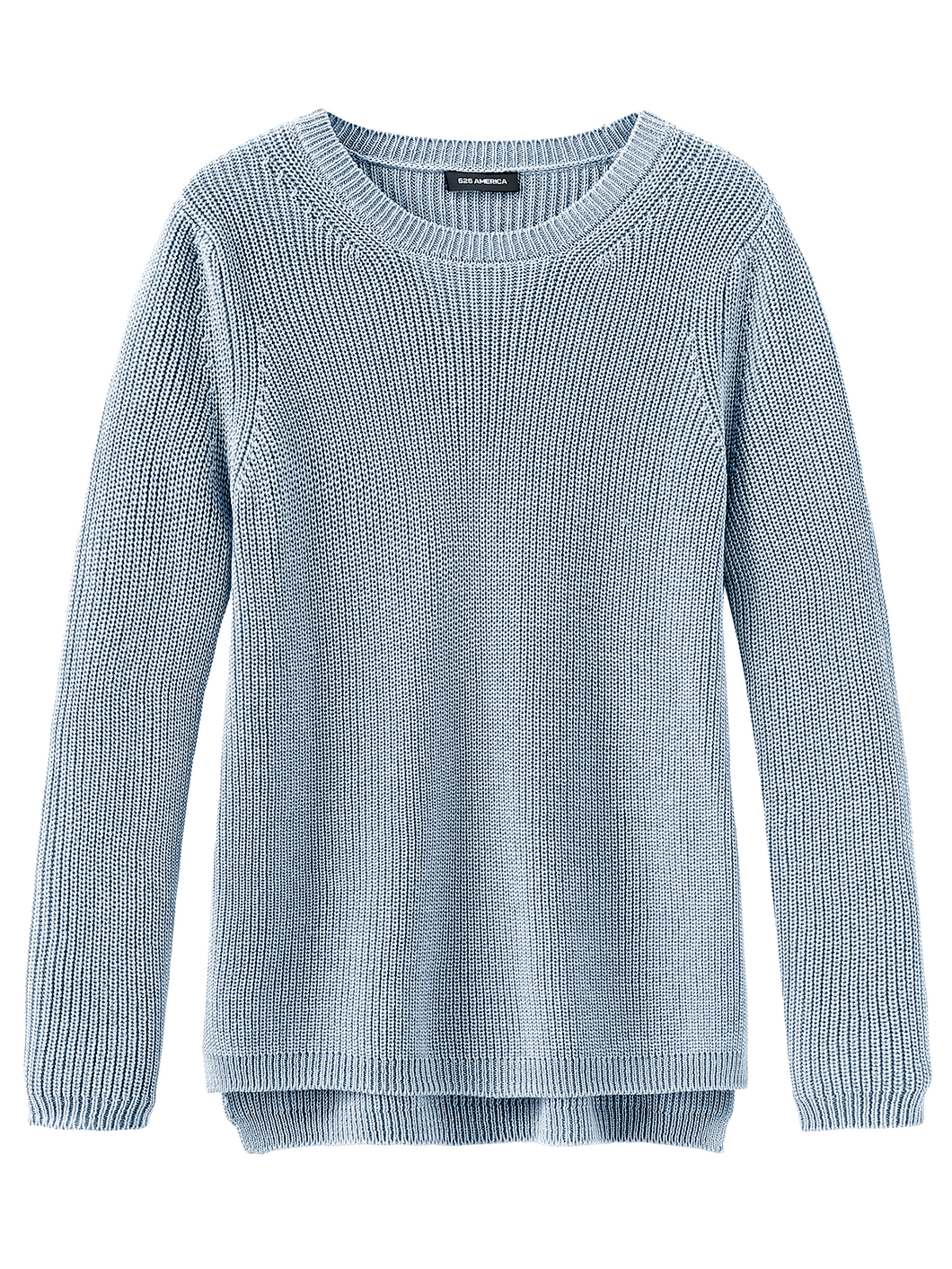 Emma Cotton Shaker Sweater in Ice Blue by 525 America