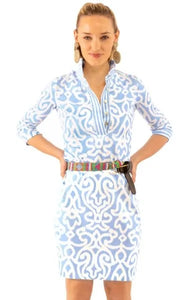 Everywhere Dress in Periwinkle Arabesque by Gretchen Scott
