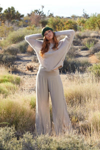 Free Pant in White, Taupe or Silver by Scandal Italy