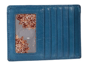 Euro Slide Leather Passport Wallet in Riviera by Hobo Bags
