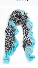 Load image into Gallery viewer, Leopard Print Scarf by Blue Pacific