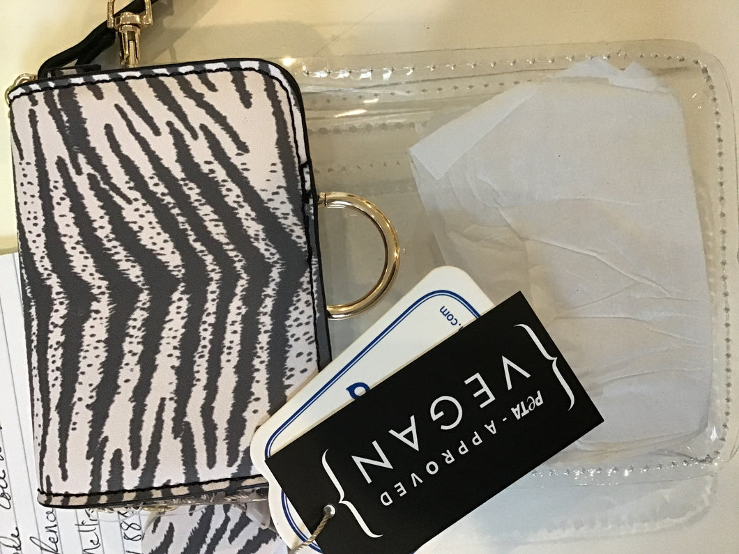 Transparent small bag in white/Tiger by TOGOGO