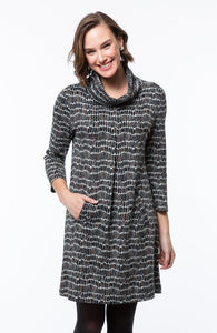 Kim Cowl Jacquard Dress by Tyler Boe