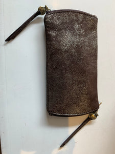 Spark Leather Double Eyeglass case in Heavy Metal by Hobo Handbags