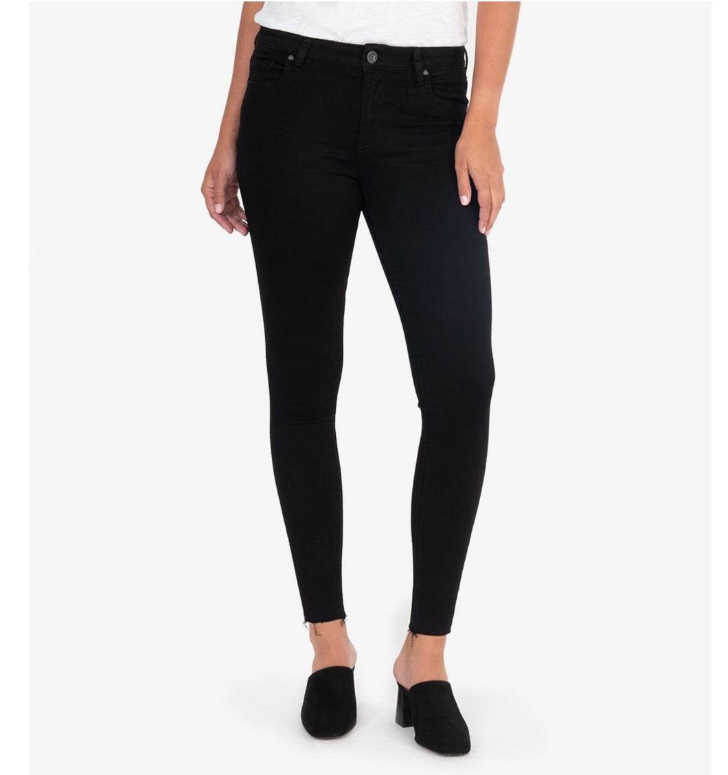 Donna Ankle Skinny Jeans in Black by Kut Jeans
