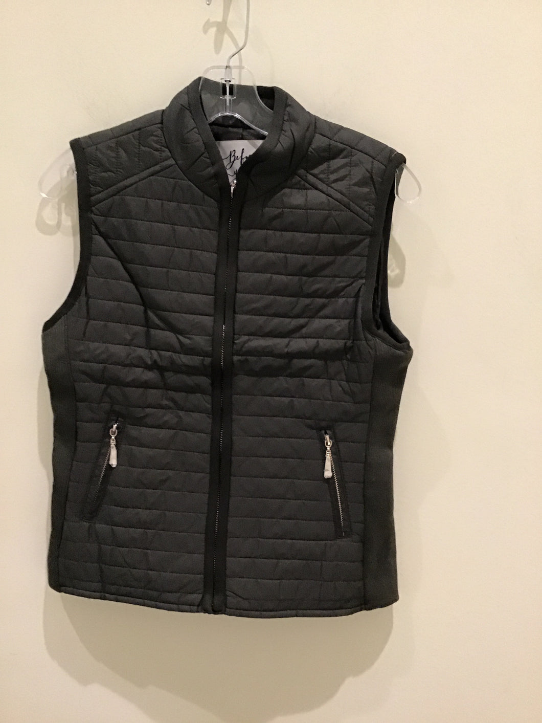 Quilted Vest in Olive by Before You
