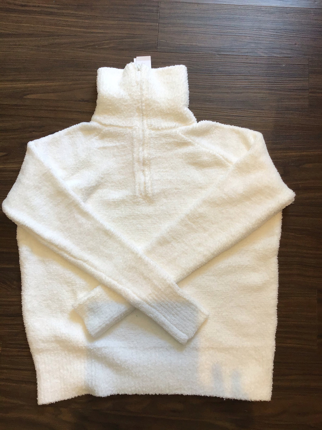Half Zip Pullover in Bleached White by 525 America