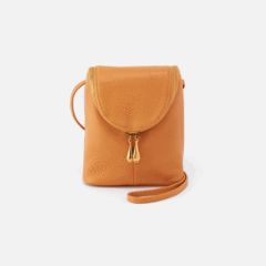 Leather 'Fern' Crossbody Bag in Butterscotch by Hobo Bags