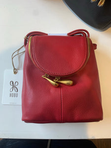 Leather'Fern' Crossbody Bag in Scarlet by Hobo Handbags