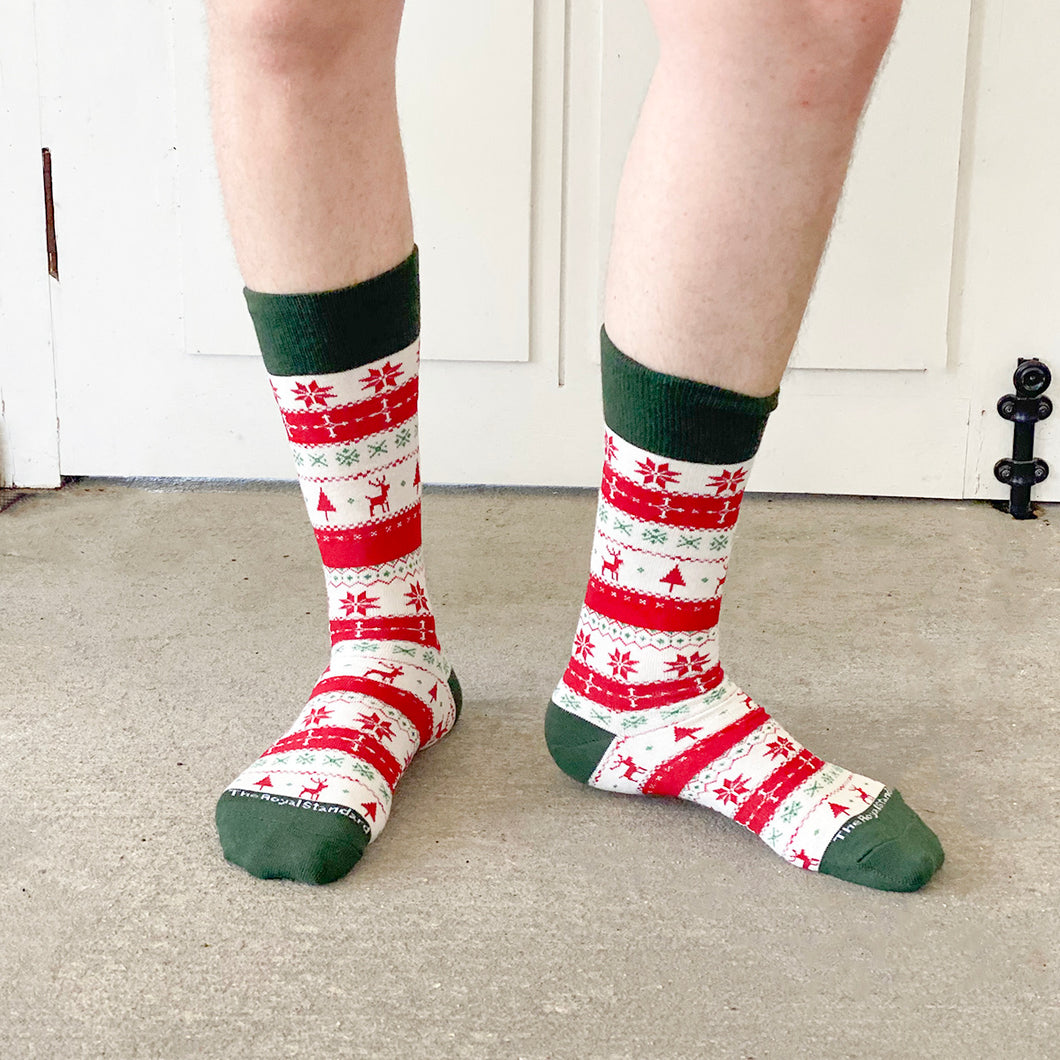 Sweater Weather Socks Christmas Sweater Motif by Royal Standard