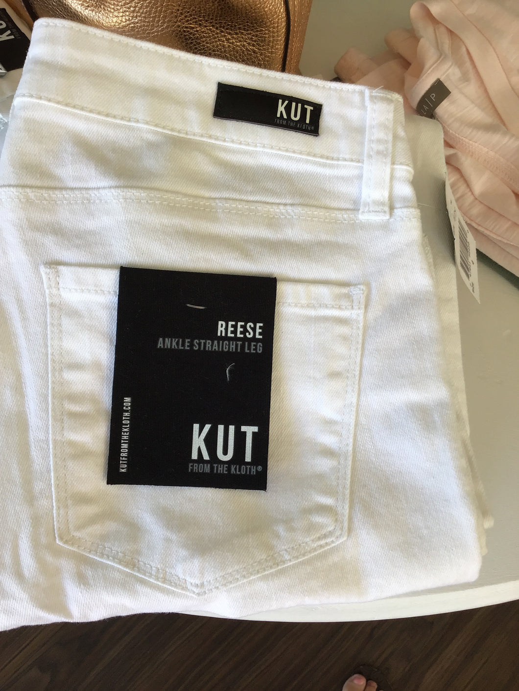 Reese Jean in Optic White by Kut Jeans 8900