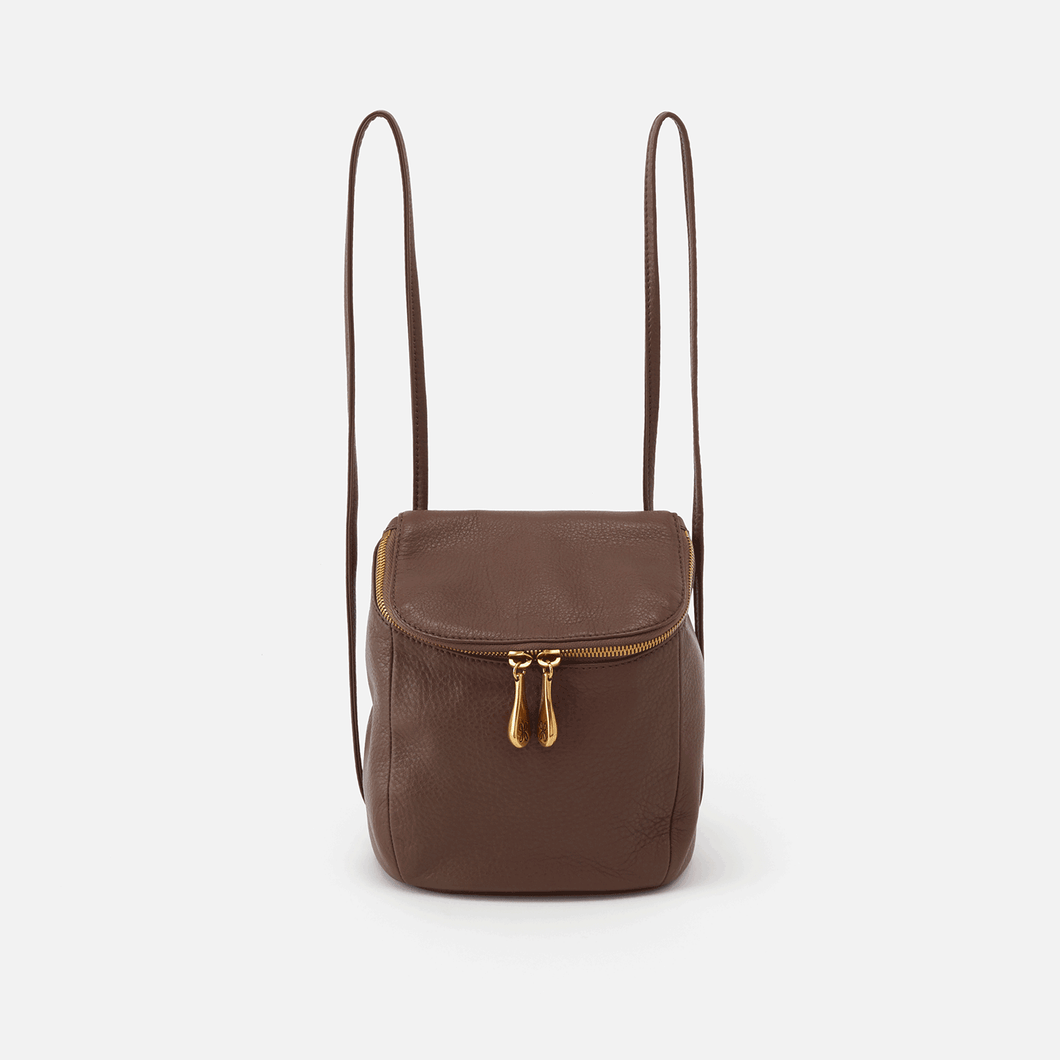 Leather Stream  convertible Backpack/Crossbody Bag in Acorn by Hobo Bags