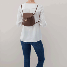 Load image into Gallery viewer, Leather Stream  convertible Backpack/Crossbody Bag in Acorn by Hobo Bags