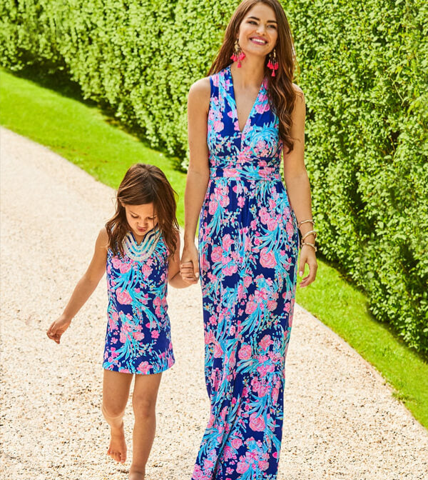 Pearce Ruffle Maxi Dress in Corsica Blue Toucan Party by Lilly Pulitzer