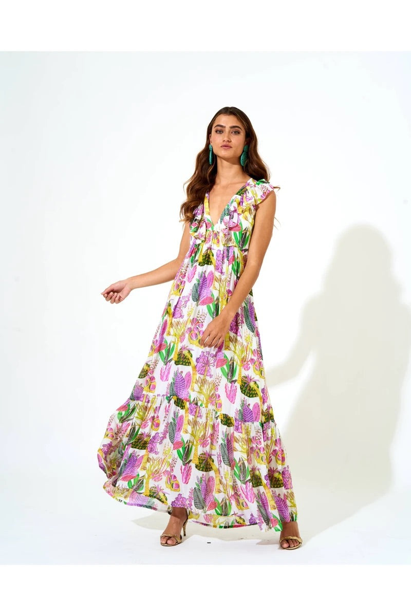 Fauna Maxi Dress in Lilac Floral by Oliphant