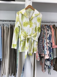 Sash Tie Blouse in Lime Pineapple by Patty Kim