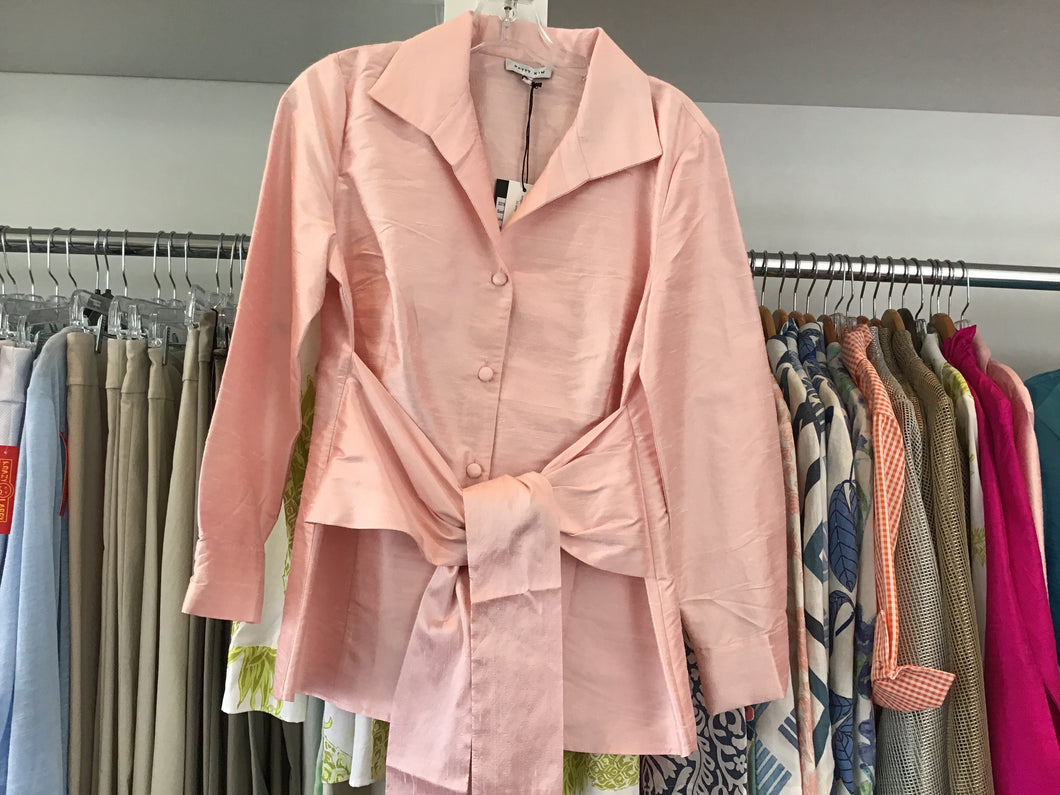 Sash Tie Blouse in light Pink by Patty Kim