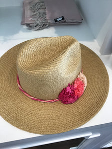Riley Hat in Natural Pink by Pia Rossini RIL00721