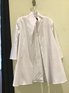 Swing Coat #8303 in White by Estelle and Finn
