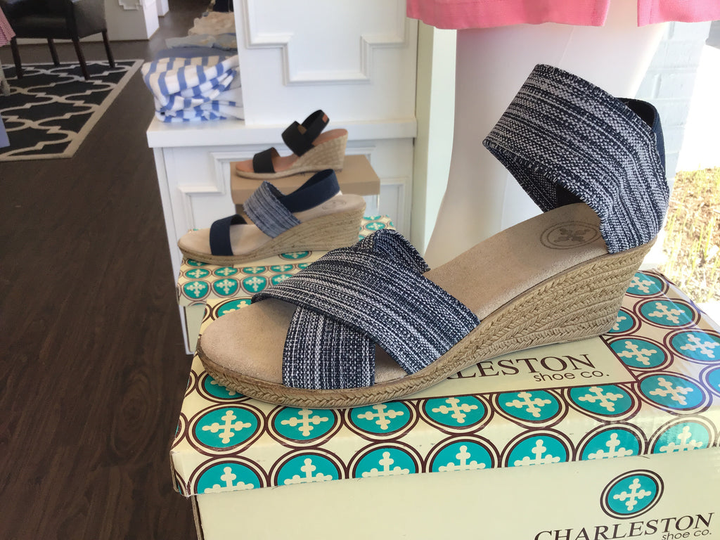 Cannon Shoe in Denim by Charleston Shoe Company