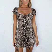 Load image into Gallery viewer, Sexy Leopard-printed square neck bodycon dress