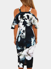 Load image into Gallery viewer, Halter  Floral Bodycon Dress