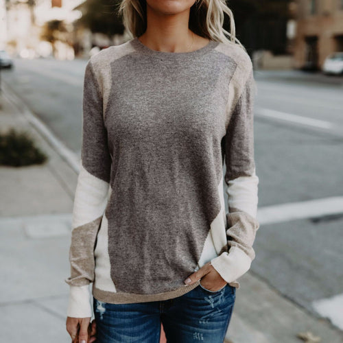 Fashion Loose Split Joint Knit Sweater