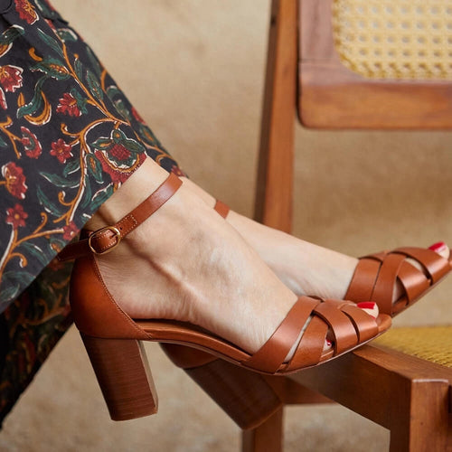 Fashion Elegant Vintage Open-Toed High-Heeled Sandal