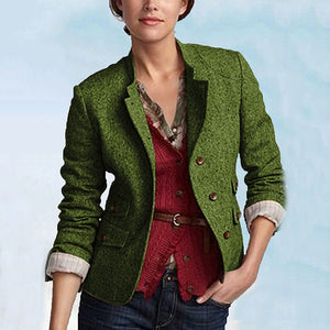 Stylish Simple Retro Multi-Color Jacket