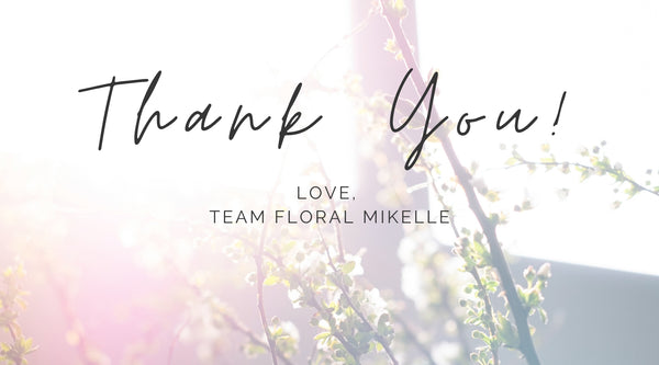 Heartfelt thanks in celebration of first birthday and anniversary of brand floral mikelle - Singapore's top preserved flower florist