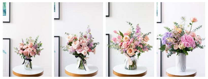 Fresh flower vase arrangements elegant and opulent designed size references floral mikelle in singapore