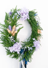 Florist designed of fresh christmas foliage and preserved flowers wreaths with free delivery