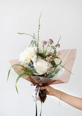 Fresh flower peony bouquet designed by singapore florist floral mikelle